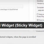 Cara Mudah Membuat Fixed Widget di WordPress