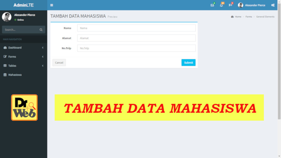 Menambah Data Mahasiswa dengan Codeigiter
