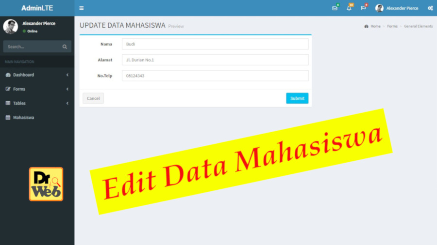 Edit Data Mahasiswa dengan Codeigiter