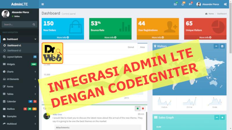 Integrasi AdminLTE dengan Codeigniter